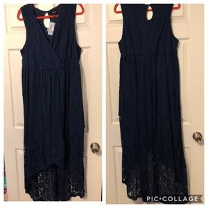 Torrid Navy Lace High Low Sleeveless Tank Dress 2X